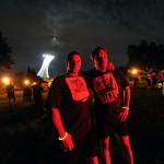 Photo Bruno Haché et Simon Tremblay après la course lumière