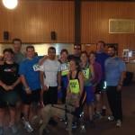 Photo de groupe des athlètes handicapés visuels qui étaient présent pour la course lumière
