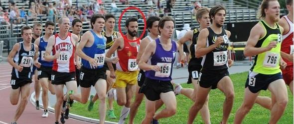 Photo de la course de 1500 mètres