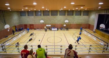 Terrain de Goalball. Crédit photo: Sébastien Lavallée.