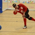 Toronto - Aug 10, 2015 - Canada's Men's Goalball team vs. VEN at the Mississauga Sports Centre during the Toronto 2015 Parapan American Games (Photo: Kalie Sinclair / Canadian Paralympic Committee)
