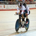 MILTON, ON, AUGUST 10, 2015. Cycling at the Velodrome. Canadian Gold medallists Daniel Chalifour & Alexandre Cloutier (BM). Photo: Dan Galbraith/Canadian Paralympic Committee