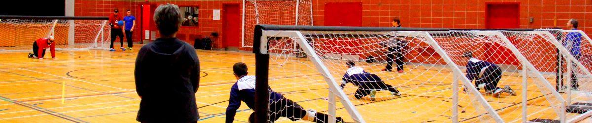Plan général d'une partie de goalball.