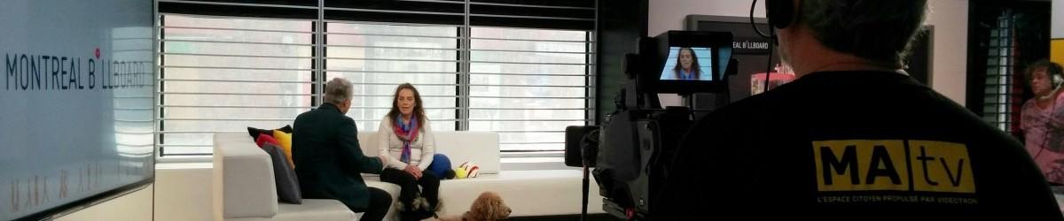 Nathalie Chartrand, directrice de l'ASAQ est interviewée par Richard Dagenais à l'émission anglophone Montreal Billboard.