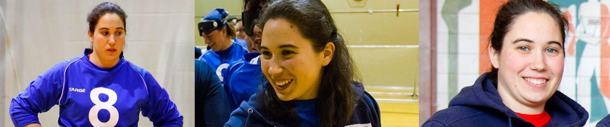 Trois photos portrait de Nathalie Séguin.