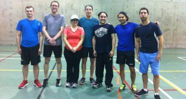 Les participants de la session automne du tennis sonore : Marc-Antoine, Hugues, Bianka, Luc-Andres, Youssef, Kenneth