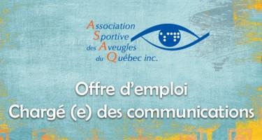 Banner - Offre d'emploi : Chargé (e) des communications.