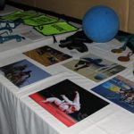 Table de photographies de sports aveugles