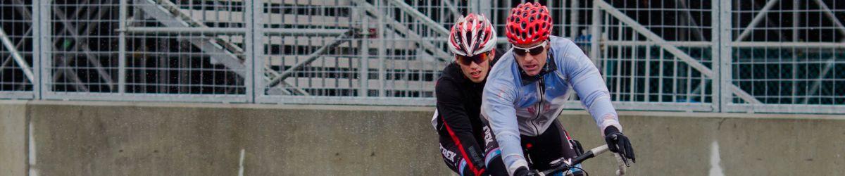 Photo. Cyclistes en tandem.