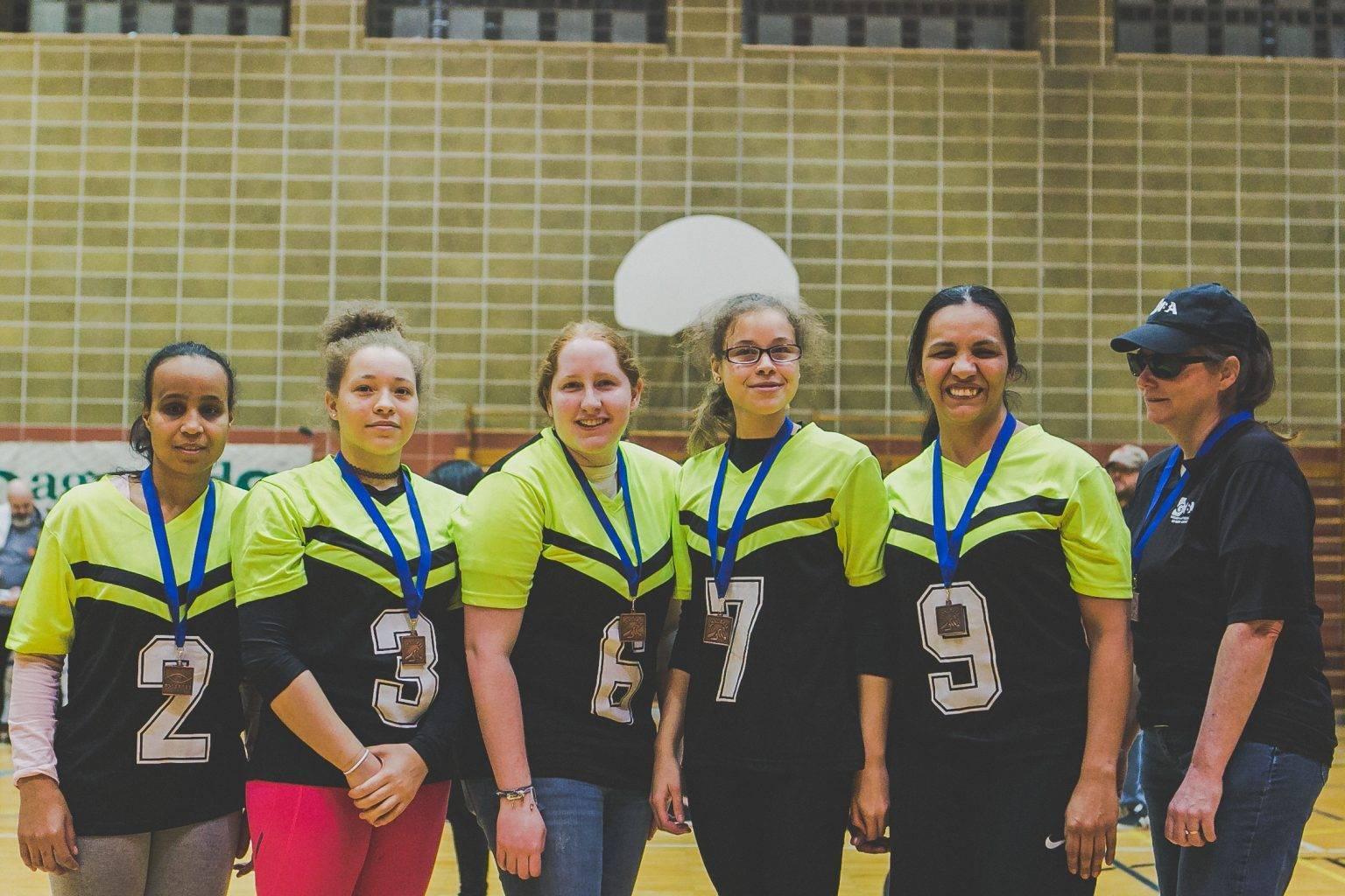 Photo- L'équipe féminine des Phantoms a terminé en 3ème position du TIGM 2017.