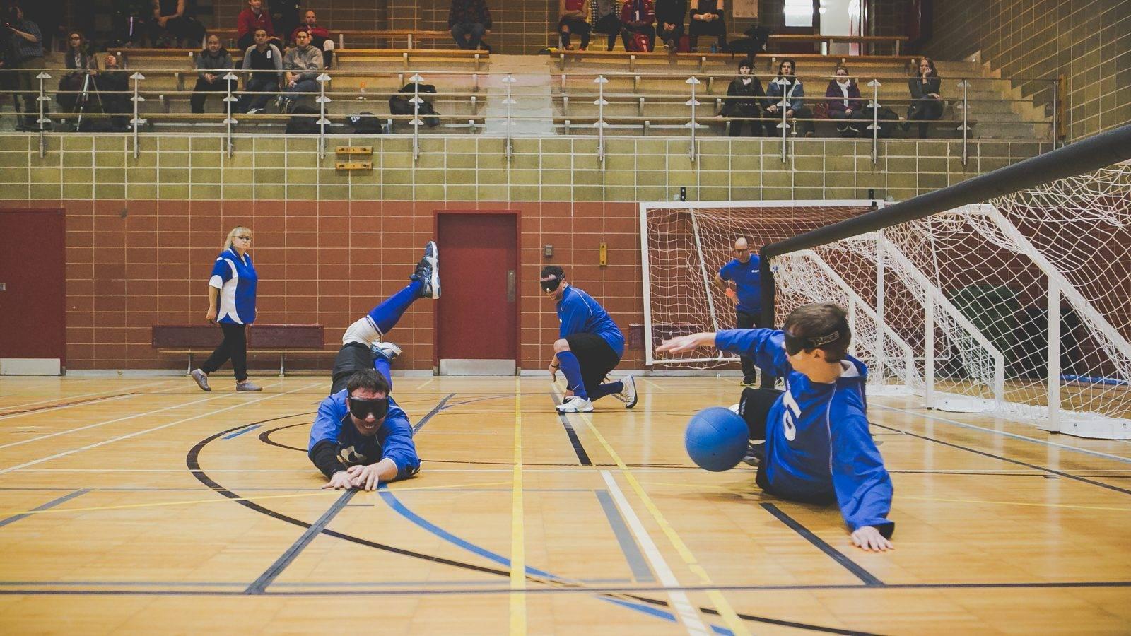 Photo. L'équipe québécoise en situation de jeu. De gauche à droite: Simon Tremblay, Bruno Haché et Tristan Lépine-Lacroix. Crédit photo: Merryl B. Photographe