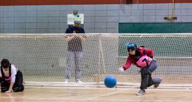 Photo de joueurs lors d'une édition précédente du goalball-o-thon.