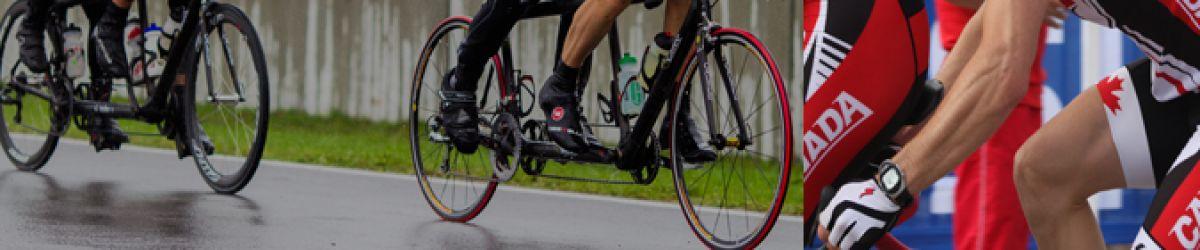 Montage photo des cyclistes Alexandre Carrier et Daniel Chalifour.
