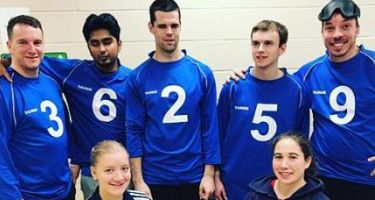 De gauche à droite: Bruno Haché, Rakibul Karim, Josué Coudé, Tristan Lépine-Lacroix et Simon Tremblay. Ils ont été accompagnés des entraîneurs Nathalie Séguin et Alexandra Piché St-Louis.
