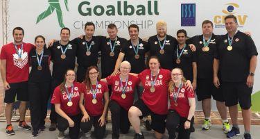Équipes de Goalball Canada aux championnats des Amériques. Crédit photo : Sports Aveugles Canada.