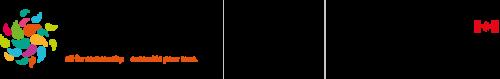 Logos du Fonds communautaire pour le 150e anniversaire du Canada.
