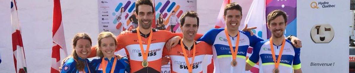Médaillés de la course contre-la-montre (podium mixte) du Défi sportif AlterGo 2018.