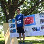 Josué Coudé avec sa médaille sur le podium !