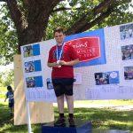 Ludovic avec sa médaille sur le podium !