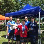 Photo de groupe - membres de l'ASAQ participants du 1km, 5 km et 10 km.