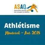 Image – Logo ASAQ. Athlétisme - Montréal Aut. 2018.