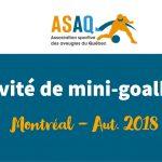 Image – Logo ASAQ. Activité de Mini-goalball. Montréal Aut. 2018.