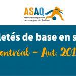 Image – Logo ASAQ. Activité Habilités de base en sport - Montréal Aut. 2018.