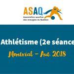 Image – Logo ASAQ. Athlétisme 2e séance - Montréal Aut. 2018.