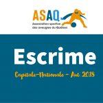 Image – Logo ASAQ. Du Sport pour moi ! Escrime. Capitale-Nationale. Aut. 2018.