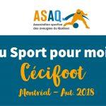 Image – Logo ASAQ. Cécifoot - La séance du 17 novembre était la première séance de cécifoot (soccer pour aveugles) pour les enfants de Montréal.