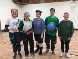Les participants à l'activité d'initiation au goalball.