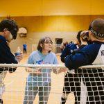 TIGM2019-Time out entre les joueurs de la Nouvelle-Écosse et leur entraîneuse.