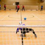 TIGM2019-Une joueuse de la Colombie-Britannique se place pour bloquer.