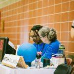 TIGM2019-Pascale Boulet et le bénévole Daniel à la table des officiels.