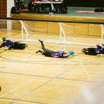 TIGM2019-L'équipe féminine de la Colombie-Britannique bloque le ballon.
