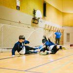 TIGM2019-L'équipe masculine de la Nouvelle-Écosse bloque le ballon.