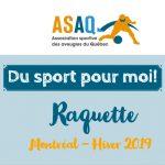 Couverture - Logo ASAQ - Programme jeunesse ASAQ hiver 2019-Raquette. Crédit photos de cette séance: Julie-Anne Perrault (photographe bénévole).