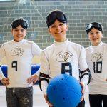 2. Tournoi de mini-goalball Mars 2019 - L'équipe de Phurax, (de gauche à droite) Philip, Julien et Maxence.
