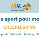 Image couverture. Logo ASAQ Du sport pour moi! - Cheerleading. Capitale-Nationale - Printemps 2019.