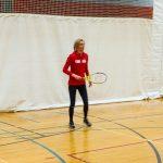 Tennis sonore 24 avril 2019. Sabrina, instructrice, alors qu'elle joue contre un participant 3.