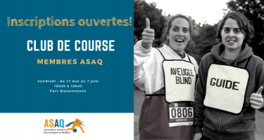 Inscriptions ouvertes! Club de course - membres ASAQ. Photo: Course-Lumière 2018 © ASAQ - Nathalie et Raphaëlle.