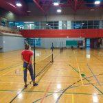Tennis sonore ASAQ Printemps 2019. Danny et Yan affronte Alain et Hugues lors d'un jeu en double, Sabrina les observe - 3.