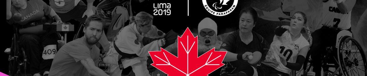Banner - equipe canadienne Jeux parapanaméricains 2019. Crédit: Comité paralympique canadien.