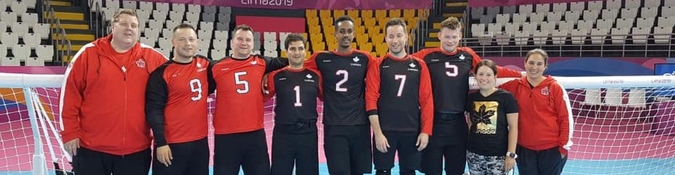 Équipe canadienne masculine de goalball 2019.