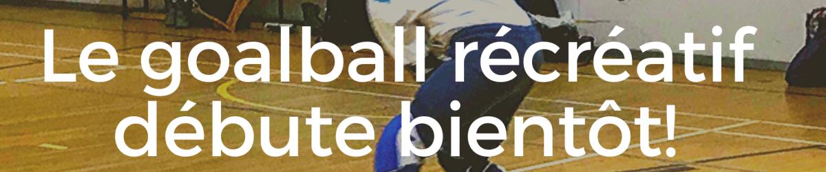 Image composée: Logo ASAQ. Photo de Nathalie Chartrand en train de faire un lancer. Texte: Le goalball récréatif débute bientôt! Tous les détails au www.sportsaveugles.qc.ca