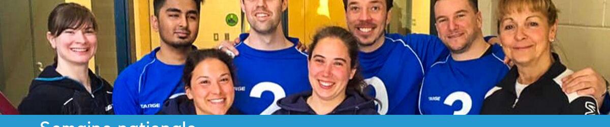 Texte: Semaine nationale des entraîneurs 2019 - Merci Nathalie! Photo: Nathalie Séguin, Viviane Marcotte-L'Heureux, Janie Barette, Rakibul Karim, Josué Coudé, Simon Tremblay et Bruno Haché.