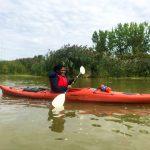 DSPM-Montréal-Automne 2019-Mayak. Dorothy notre nouvelle intervenante sportive à sa première expérience en kayak.