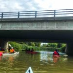 DSPM-Montréal-Automne 2019-Mayak. Le groupe qui s'apprête à passer sous un pont.