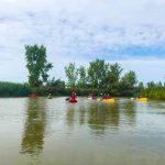 DSPM-Montréal-Automne 2019-Mayak. Le groupe sur la rivière en mayak et kayak.