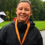Course des princesses (et des princes) de la Fondation Pierre Brise-Bois. Maman de Meryk fière la médaille au cou.